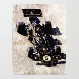 Emerson Fittipaldi on Lotus Poster