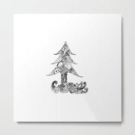 Stylized christmas tree Metal Print