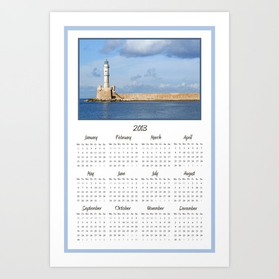 Lighthouse 2013 Calendar Art Print
