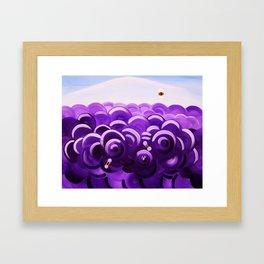 Honey Bees in Lavender Framed Art Print