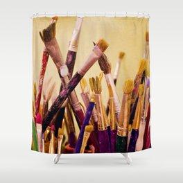Paintbrushes Shower Curtain