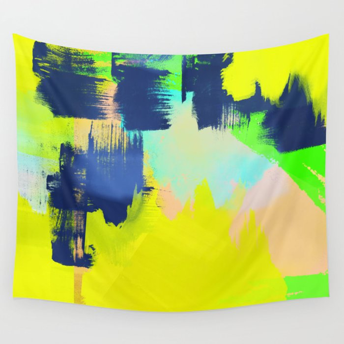 Yellow and More Wall Tapestry