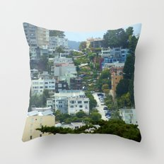 Lombard Street, San Francisco Throw Pillow