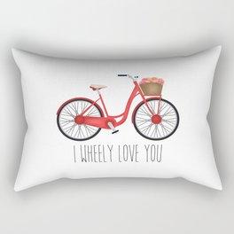 I Wheely Love You Rectangular Pillow