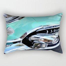 Turquoise Blue Vintage Car Rectangular Pillow