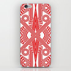 Red And White Stripes iPhone & iPod Skin