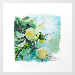 Apple on a tree Art Print