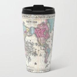 1852 J.H. Colton Map of the World Travel Mug