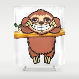 Happy Sloth! Shower Curtain