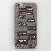 calendar iPhone & iPod Skins featuring Calendar Walk by Ethna Gillespie