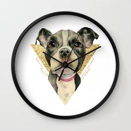 Puppy Eyes 3 Wall Clock