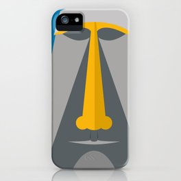 Grey Tiki iPhone Case