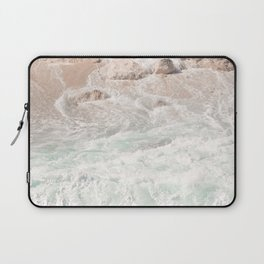 Blue Waves Ocean Photo Print | Summer Beach Colors Sea Tropical Art | Bali Coast Travel Photography Laptop Sleeve