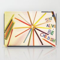 childish gambino iPad Cases featuring STAY ALIVE BE CHILDISH II by Pio Timoko