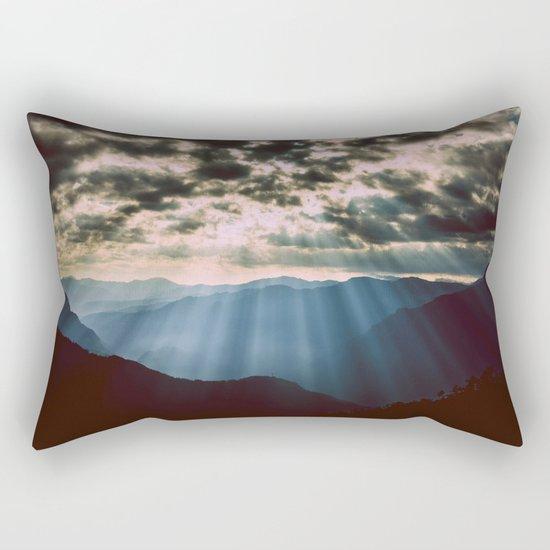 mountainS Dark Sunset Rectangular Pillow