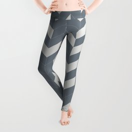 Grey and Grey Herringbone Leggings