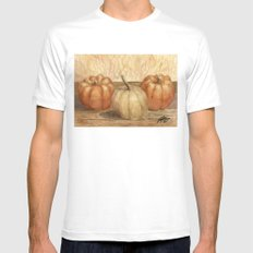 Mini Pumpkins I MEDIUM Mens Fitted Tee White