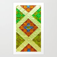 arab Art Prints featuring arab stained glass by tony tudor