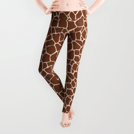 Dark Brown Giraffe Skin - Wild Animal Leggings