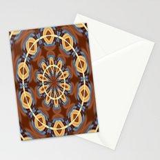 Blue Wood Kaleido Pattern Stationery Cards