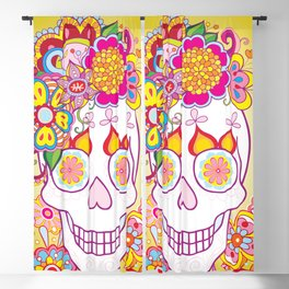 Sugar Skull Art (Felicity) Blackout Curtain