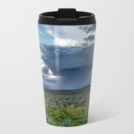 Desert Rain - Summer Thunderstorms Near Taos New Mexico Travel Mug