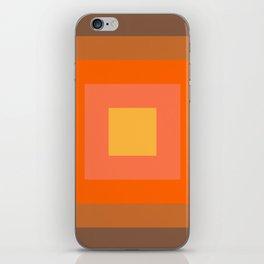 Warm Orange iPhone Skin