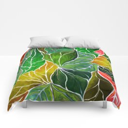 Dancing leaves Comforters