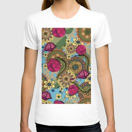Zentangle style with pomegranate and flowers T-shirt