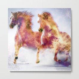 Fire Horses Metal Print