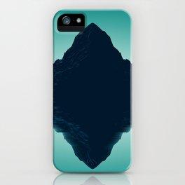 Phenomenal Wonderful Turquoise Hill Side Mirroring Lake Surface UHD iPhone Case