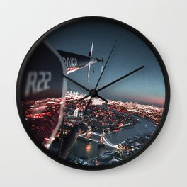 helicopter in london Wall Clock