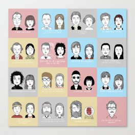 Sad Movie Couples Canvas Print