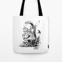 Pouty Alice  - Ink Sketch Tote Bag