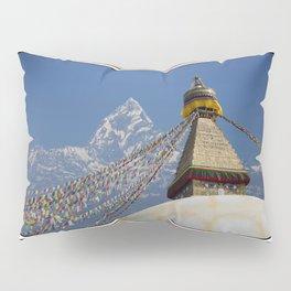 BOUDHANATH AND MACHAPUCHARE NEPAL COMPOSITE Pillow Sham