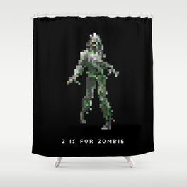 Z is for Zombie Shower Curtain