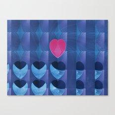 Fractal Art- Heart Art- Pink Heart- Blue Heart-U Know It- Childrens Art-Love Canvas Print