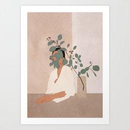 Behind the Leaves Art Print