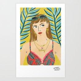 Summer Bummer by Veronique de Jong Art Print