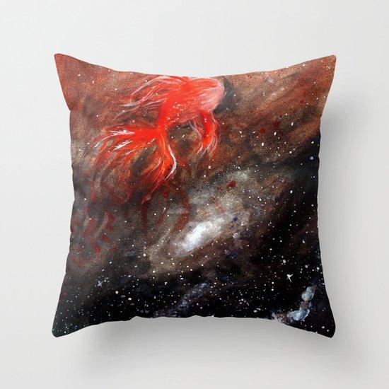 goldfish cosmos Throw Pillow
