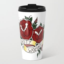 Nasty Woman and Roses Tattoo Flash Travel Mug