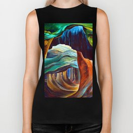 Emily Carr Forest in British Columbia Biker Tank