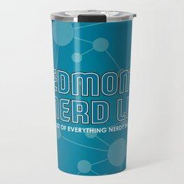 Edmonton Nerd List (with background) Travel Mug