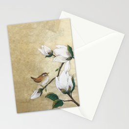 Minhwa: A Wren on the Magnolia(Korean traditional/folk art) Stationery Cards