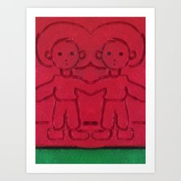 Red Two Art Print