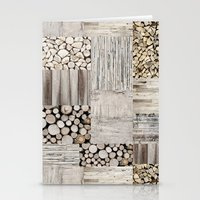 wood Stationery Cards featuring Wood by LebensART