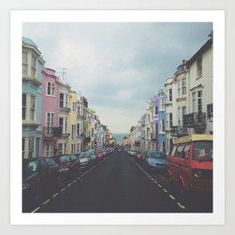 Brighton Houses Art Print