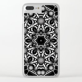 Black and White Molecular Geometry Clear iPhone Case