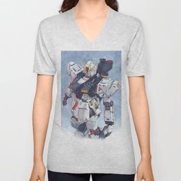 Nu Gundam watercolor Unisex V-Neck