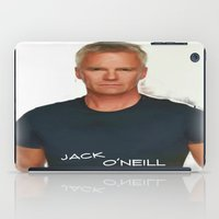 stargate iPad Cases featuring Jack O'Neill by Samy
